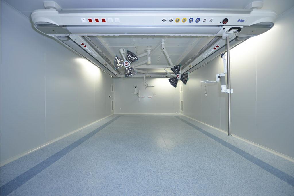 Salle blanche modulable pour hopital
