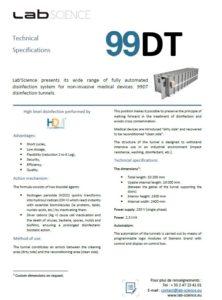 Spécifications techniques 99DT