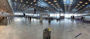 tunnel de decontamination aeroport paris